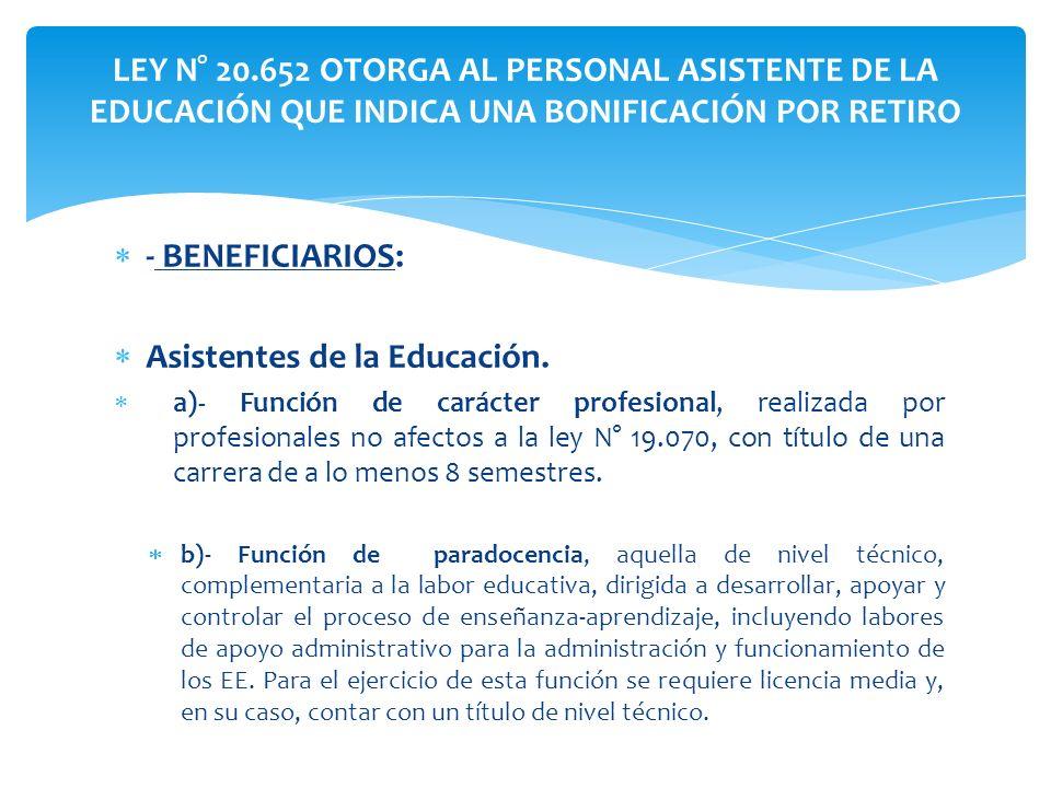 Asistentes de la Educación.