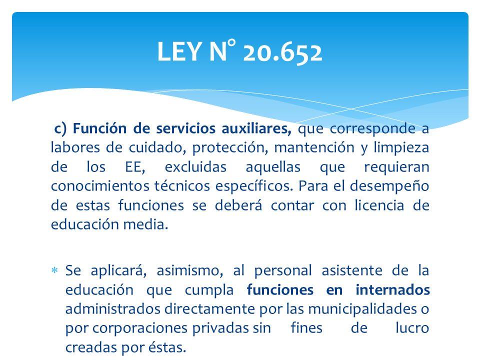 LEY N° 20.652