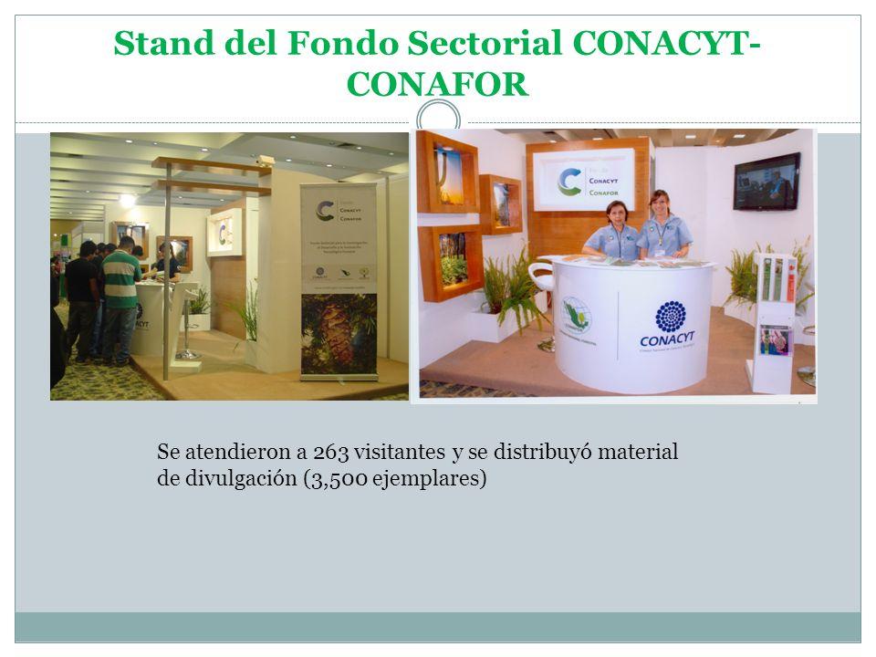 Stand del Fondo Sectorial CONACYT-CONAFOR