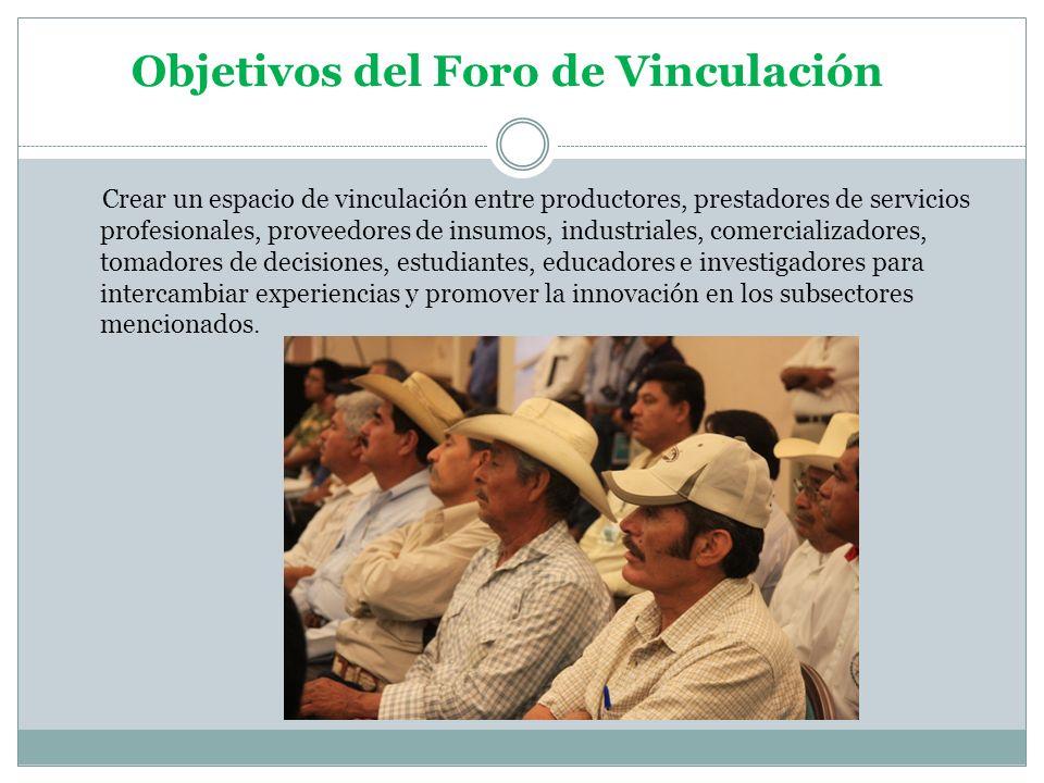 Objetivos del Foro de Vinculación