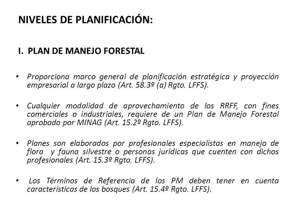 I. PLAN DE MANEJO FORESTAL