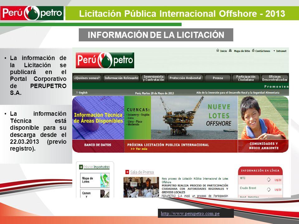 Licitación Pública Internacional Offshore - 2013