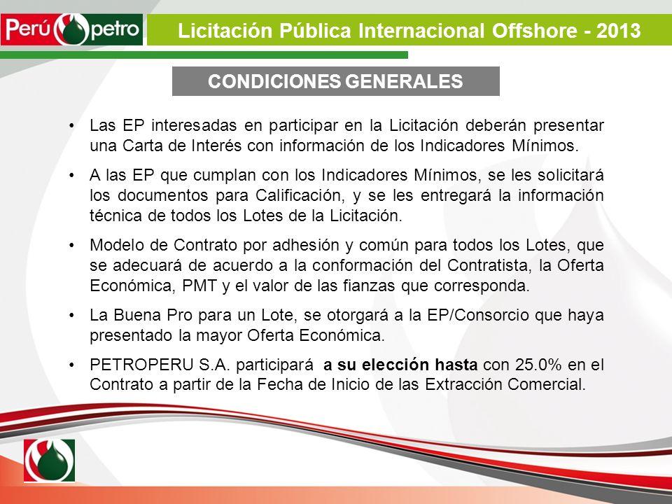 Licitación Pública Internacional Offshore - 2013 CONDICIONES GENERALES