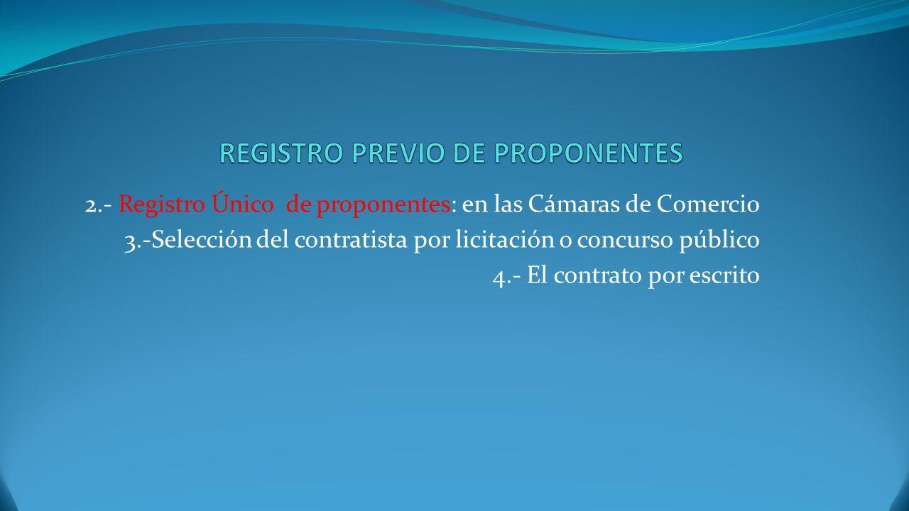 REGISTRO PREVIO DE PROPONENTES