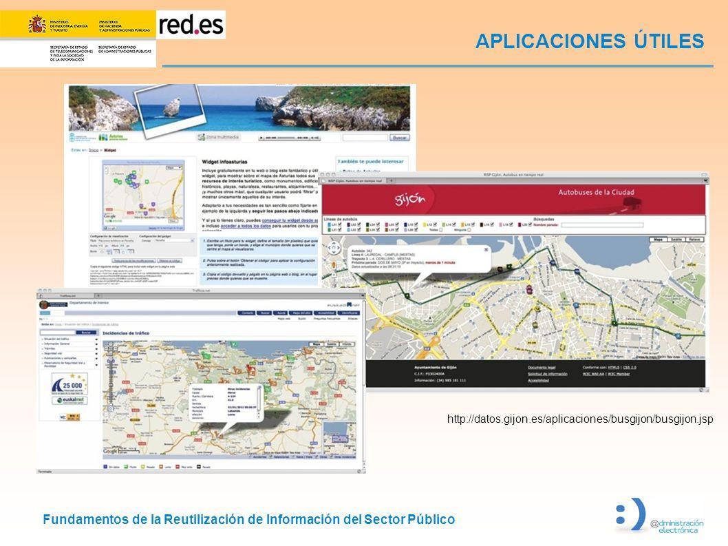 APLICACIONES ÚTILES http://datos.gijon.es/aplicaciones/busgijon/busgijon.jsp