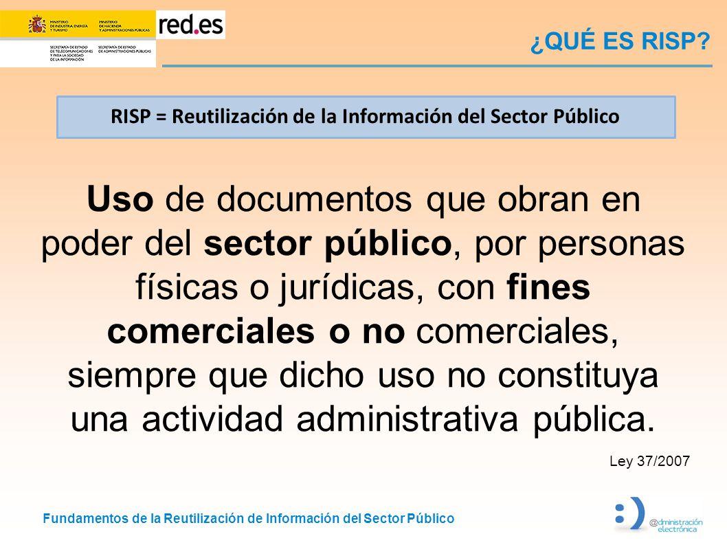 ¿QUÉ ES RISP RISP = Reutilización de la Información del Sector Público.