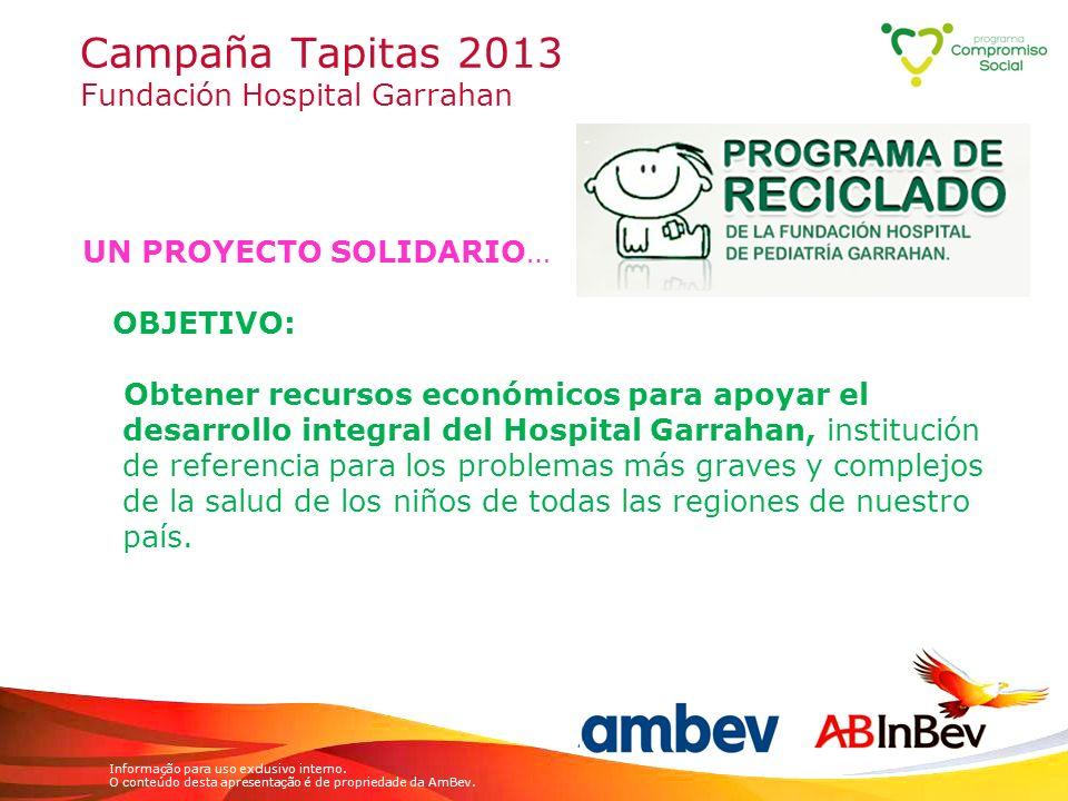 Campaña Tapitas 2013 Fundación Hospital Garrahan