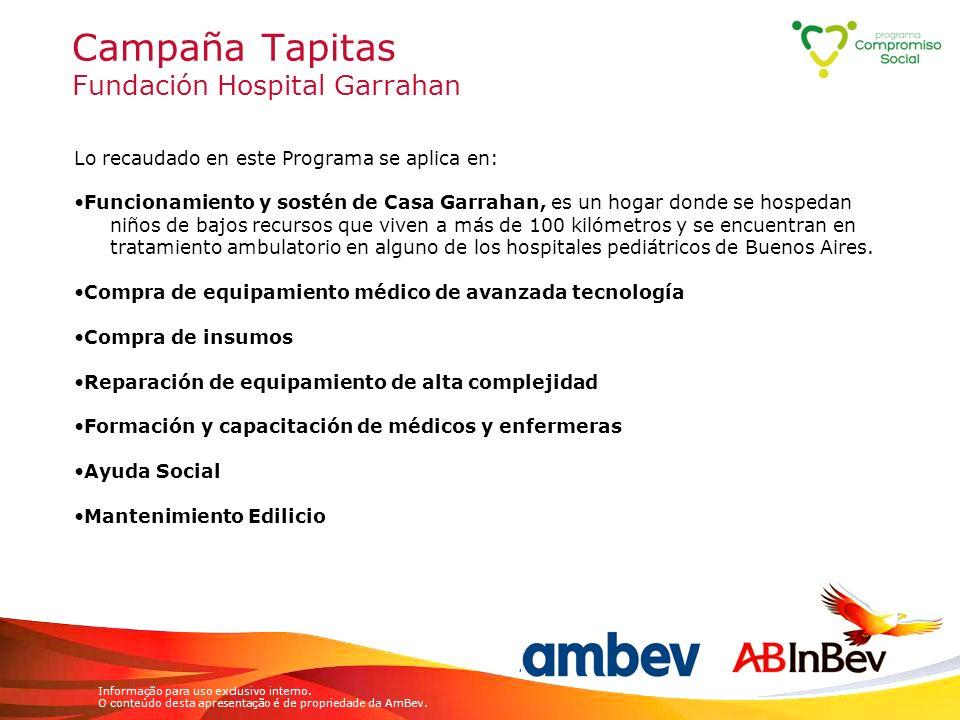 Campaña Tapitas Fundación Hospital Garrahan