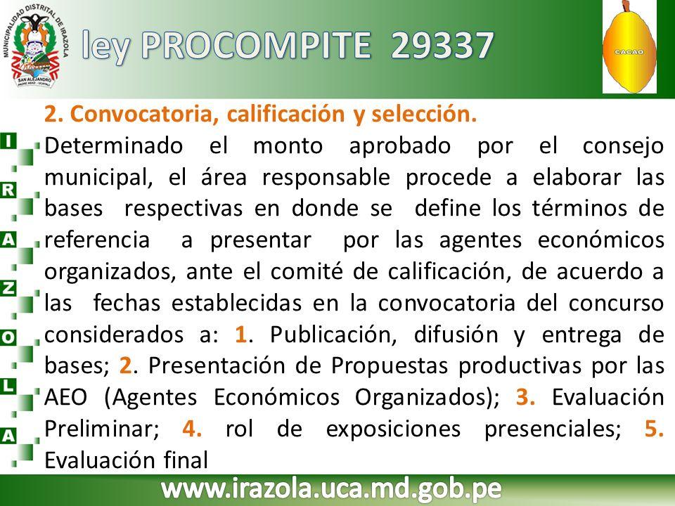 ley PROCOMPITE 29337 www.irazola.uca.md.gob.pe