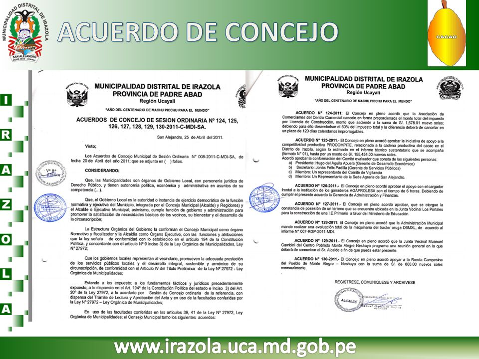 ACUERDO DE CONCEJO www.irazola.uca.md.gob.pe
