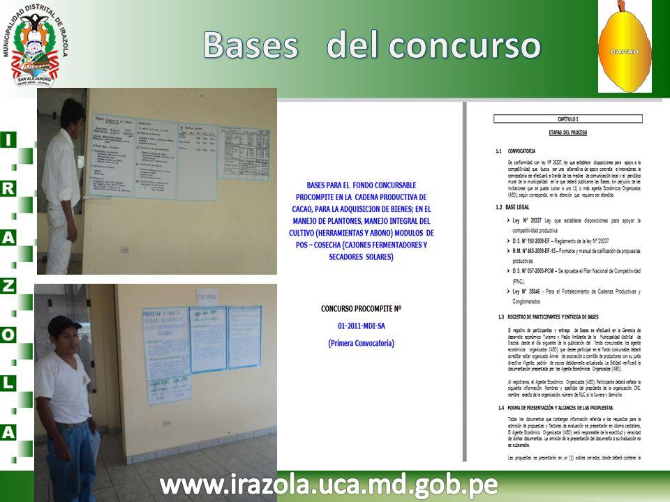 Bases del concurso www.irazola.uca.md.gob.pe