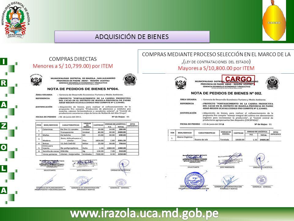 www.irazola.uca.md.gob.pe ADQUISICIÓN DE BIENES