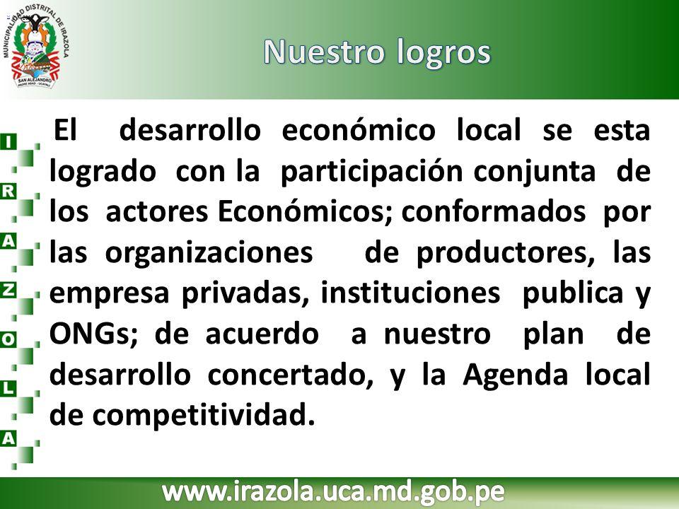 Nuestro logros www.irazola.uca.md.gob.pe