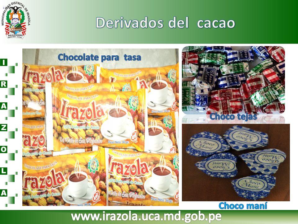 Derivados del cacao www.irazola.uca.md.gob.pe Chocolate para tasa
