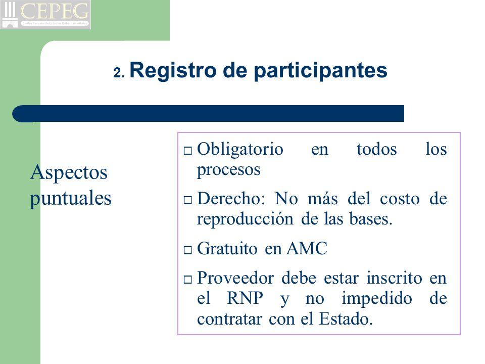 2. Registro de participantes