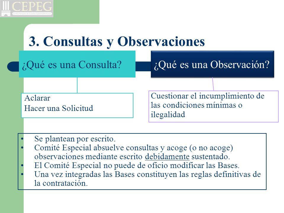 3. Consultas y Observaciones