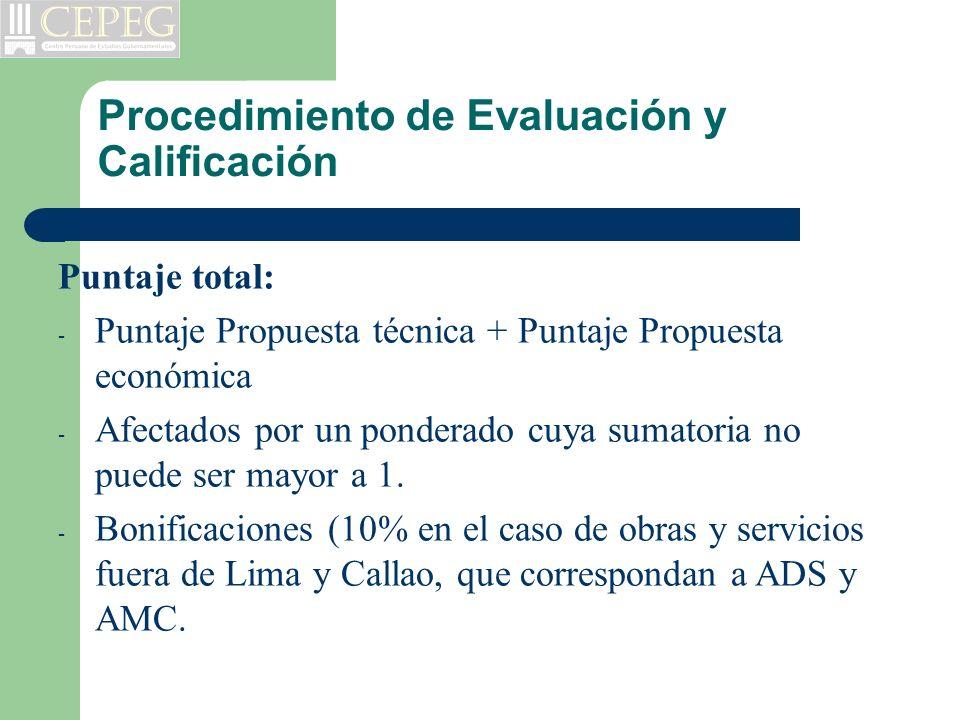 Procedimiento de Evaluación y Calificación