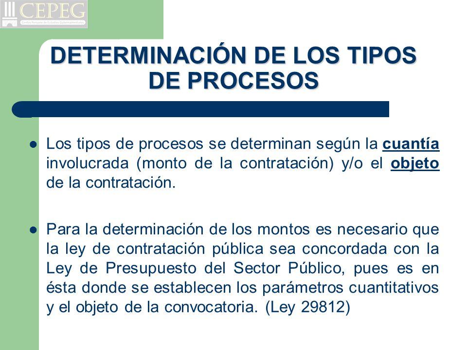 DETERMINACIÓN DE LOS TIPOS DE PROCESOS