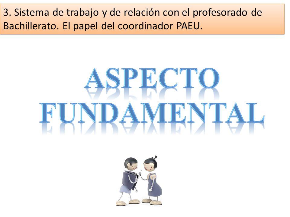 3. Sistema de trabajo y de relación con el profesorado de Bachillerato