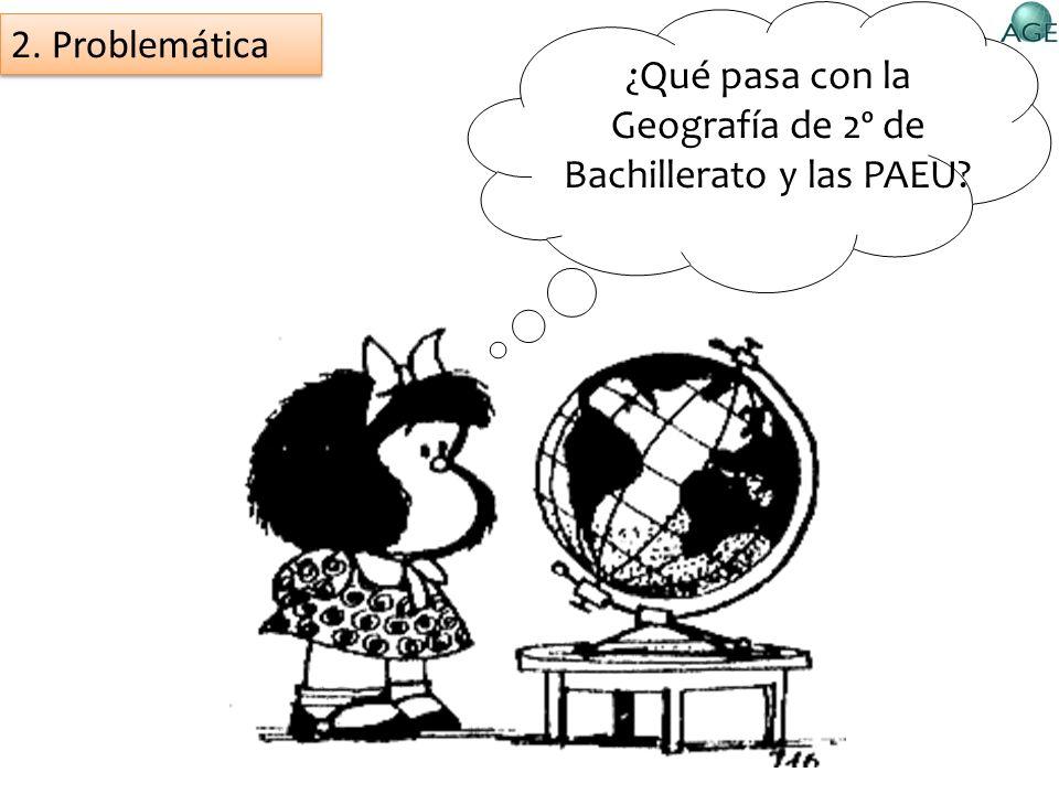 ¿Qué pasa con la Geografía de 2º de Bachillerato y las PAEU