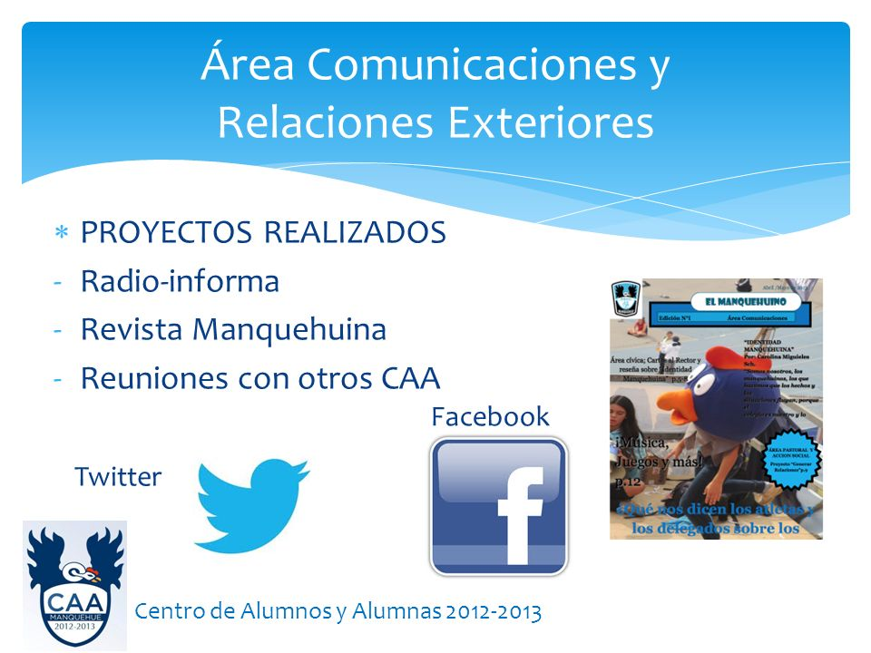 Área Comunicaciones y Relaciones Exteriores
