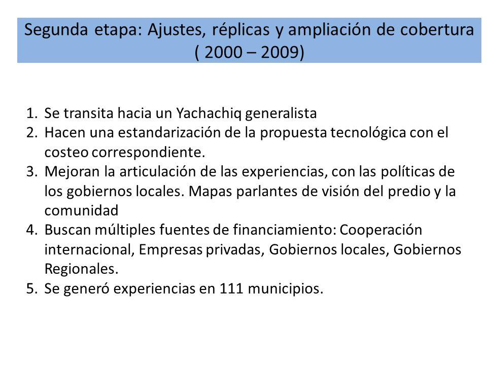 Segunda etapa: Ajustes, réplicas y ampliación de cobertura ( 2000 – 2009)