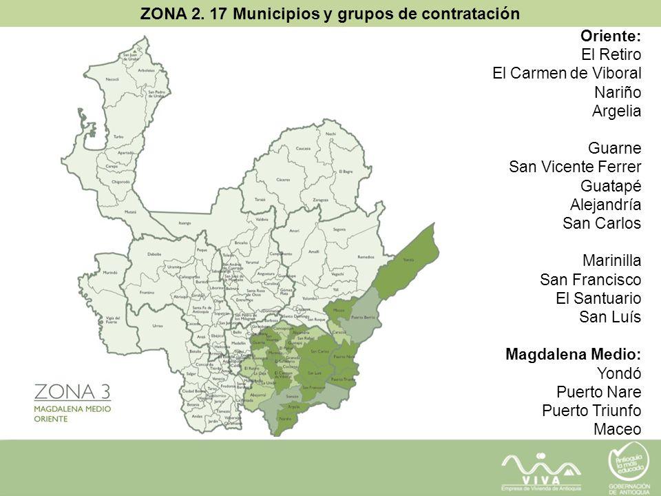 ZONA 2. 17 Municipios y grupos de contratación
