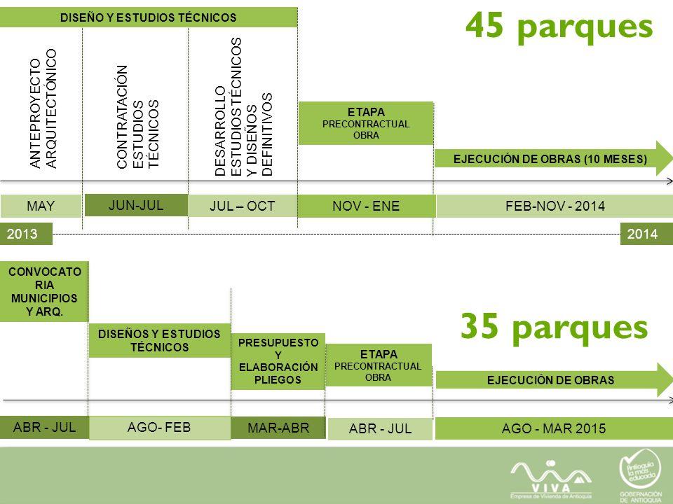45 parques 35 parques ANTEPROYECTO ARQUITECTÓNICO