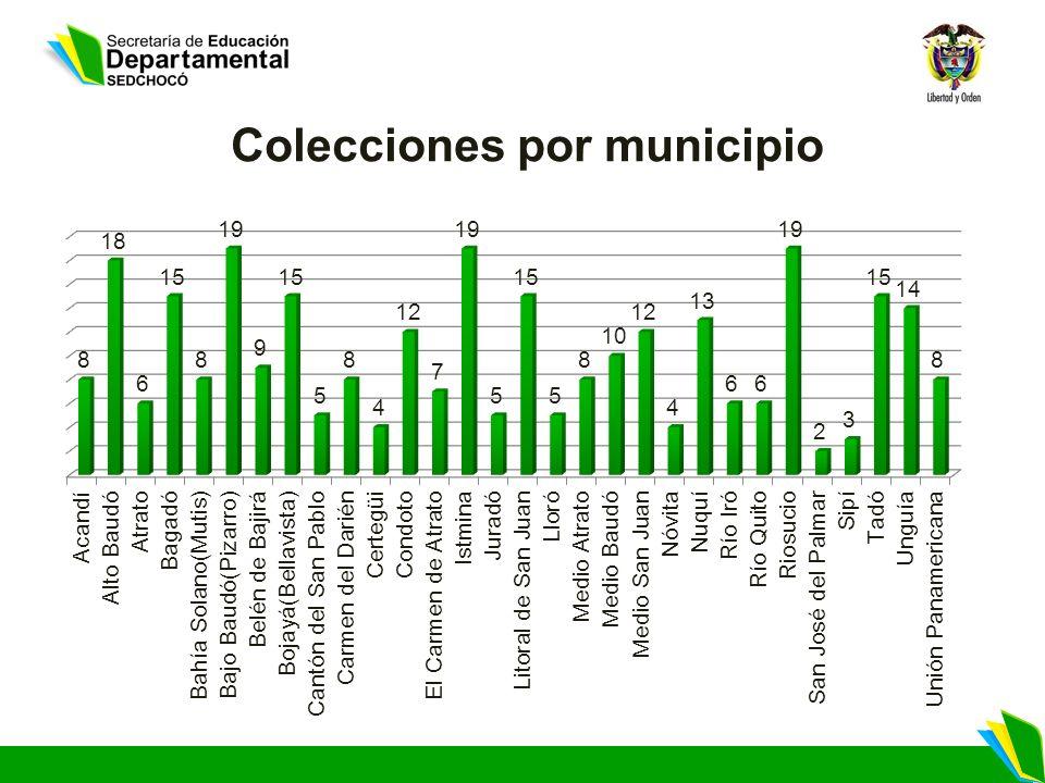 Colecciones por municipio