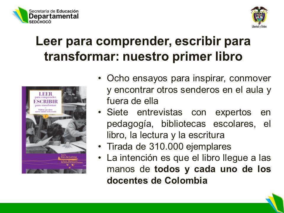 Leer para comprender, escribir para transformar: nuestro primer libro