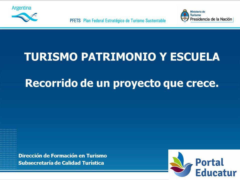 TURISMO PATRIMONIO Y ESCUELA Recorrido de un proyecto que crece.