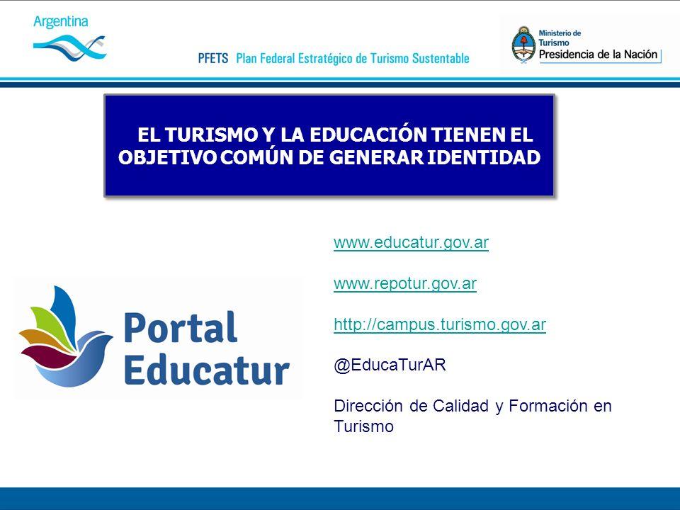 EL TURISMO Y LA EDUCACIÓN TIENEN EL OBJETIVO COMÚN DE GENERAR IDENTIDAD