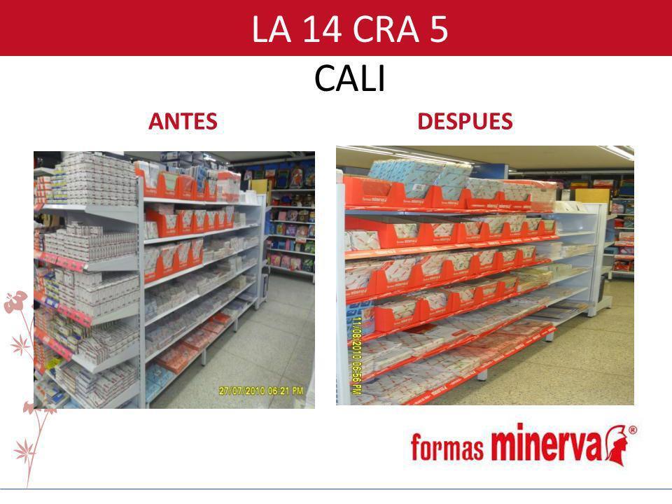 LA 14 CRA 5 CALI ANTES DESPUES