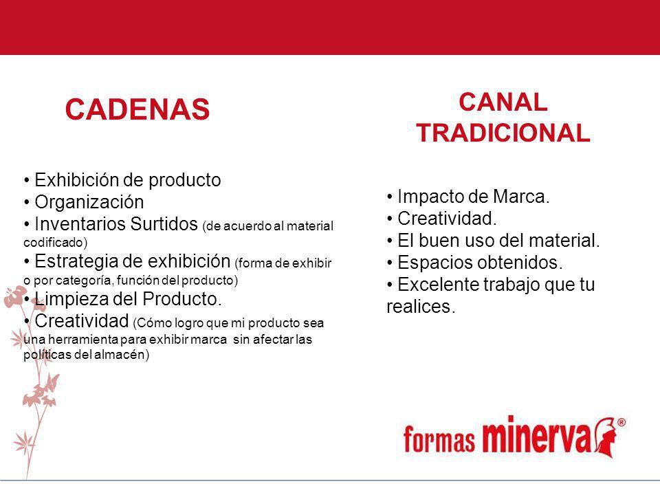 CADENAS CANAL TRADICIONAL Exhibición de producto Organización