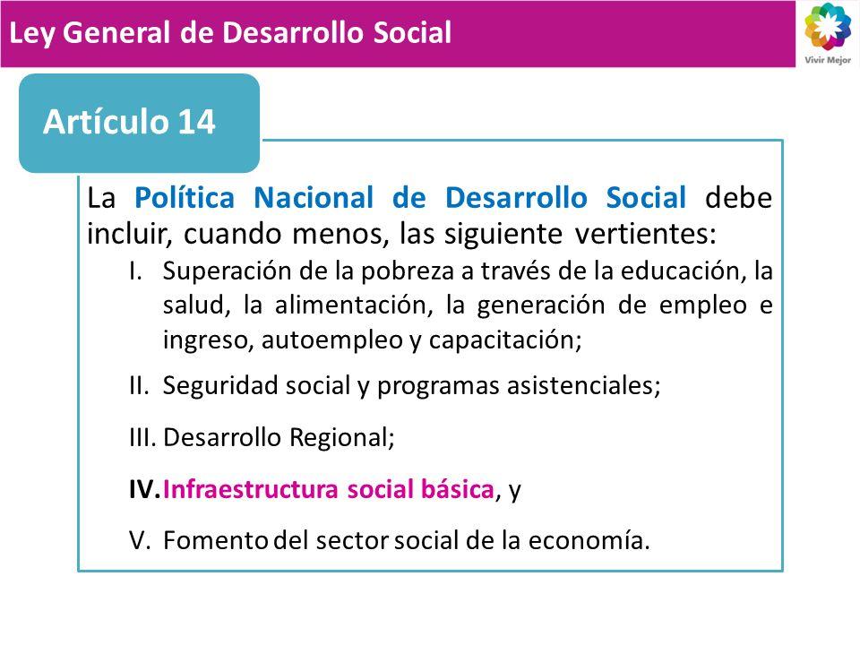 Artículo 14 Ley General de Desarrollo Social