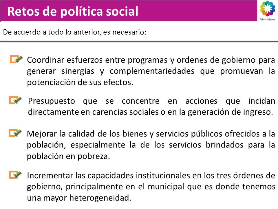 Retos de política social