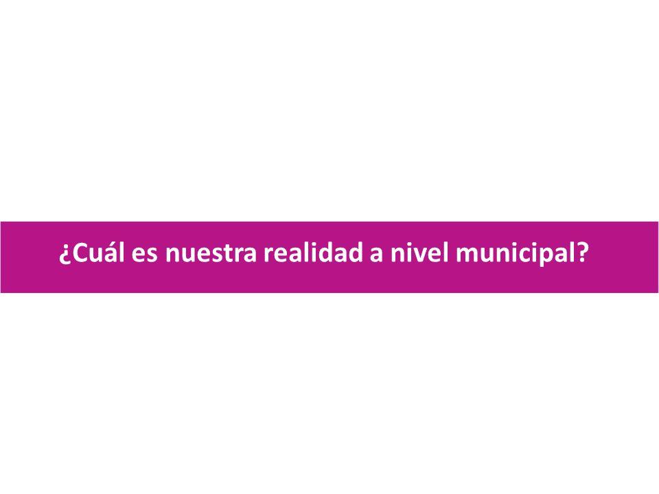 ¿Cuál es nuestra realidad a nivel municipal