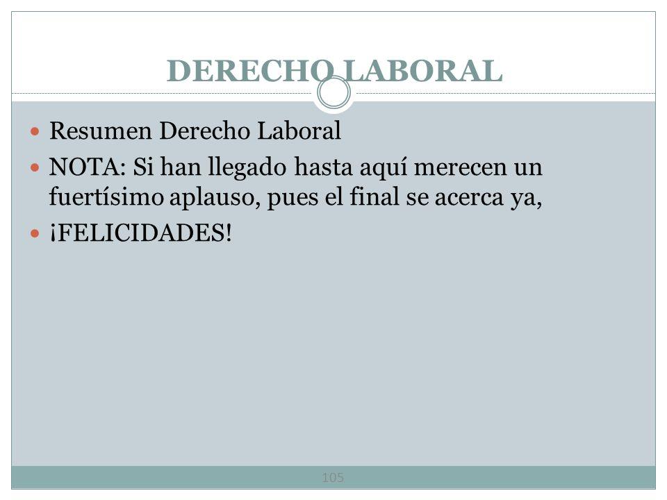 DERECHO LABORAL Resumen Derecho Laboral