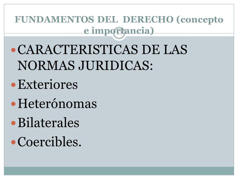 FUNDAMENTOS DEL DERECHO (concepto e importancia)