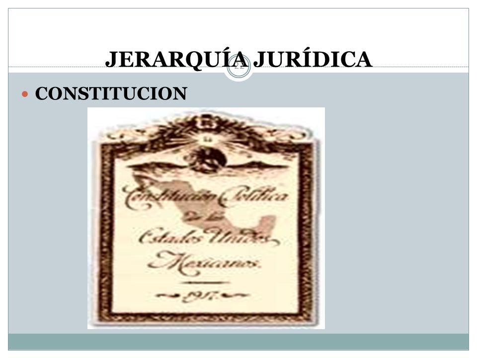 JERARQUÍA JURÍDICA CONSTITUCION