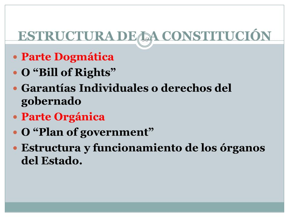 ESTRUCTURA DE LA CONSTITUCIÓN