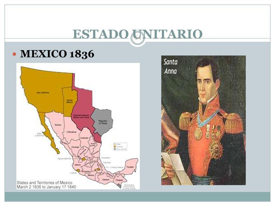 ESTADO UNITARIO MEXICO 1836
