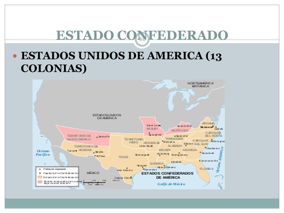 ESTADO CONFEDERADO ESTADOS UNIDOS DE AMERICA (13 COLONIAS)