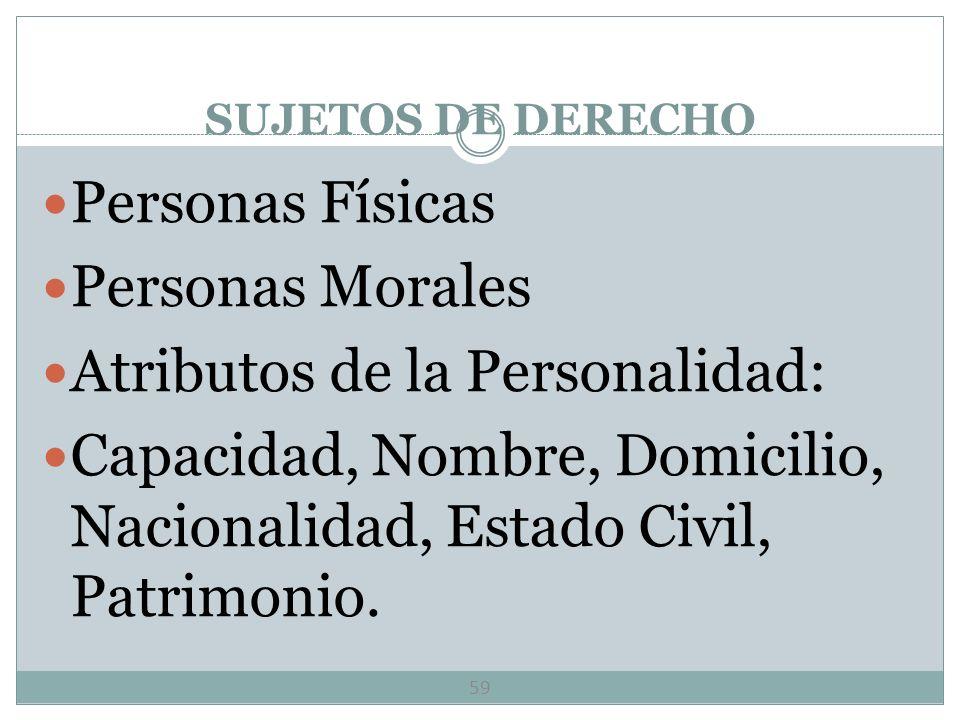 Atributos de la Personalidad: