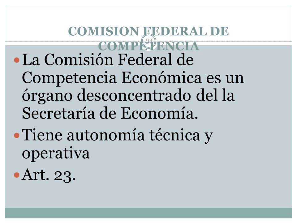 COMISION FEDERAL DE COMPETENCIA