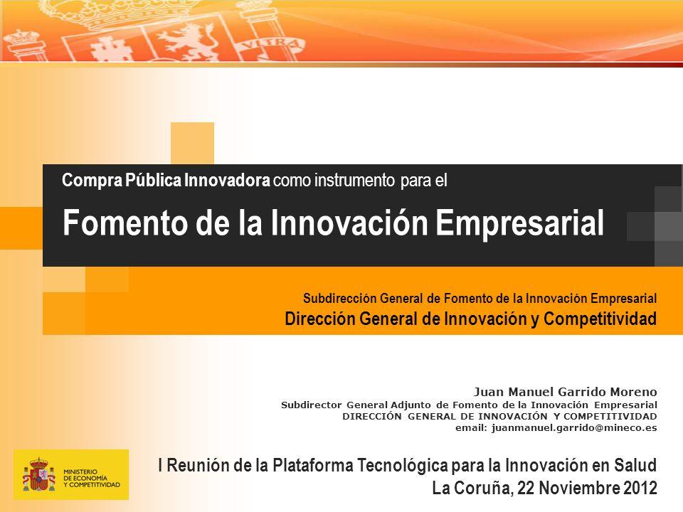 Compra Pública Innovadora como instrumento para el