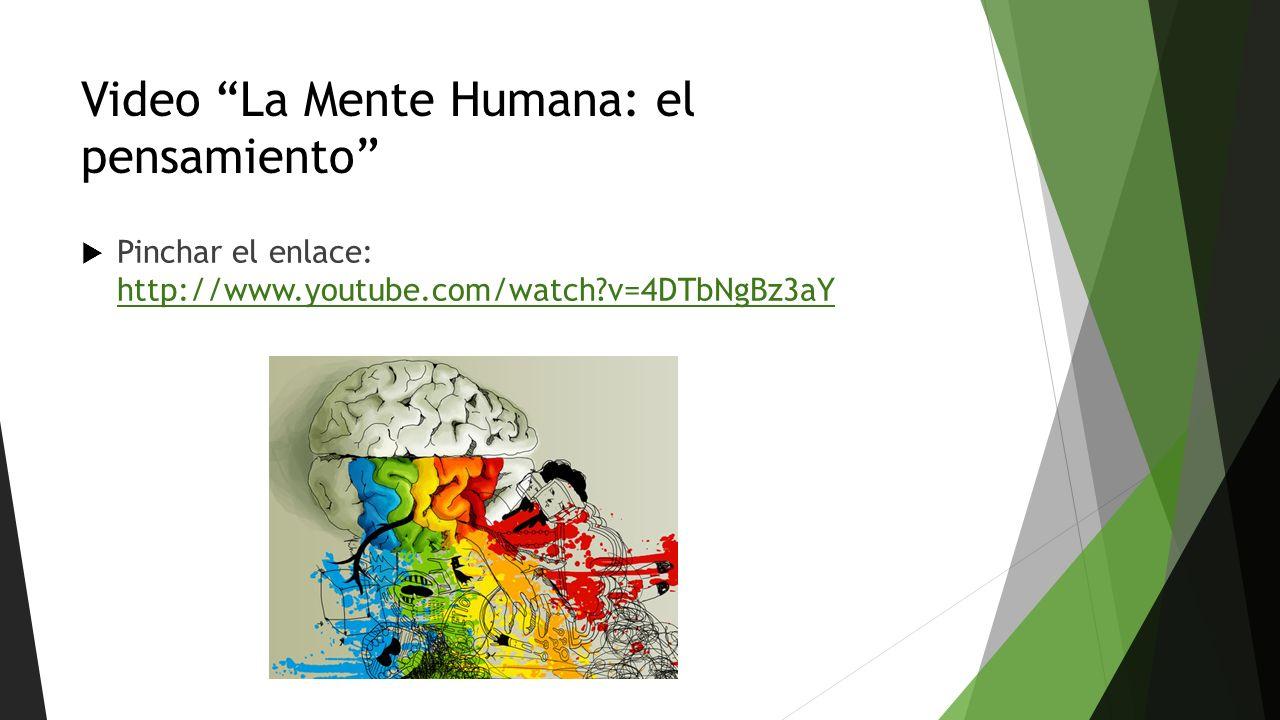 Video La Mente Humana: el pensamiento