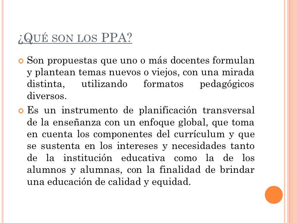 ¿Qué son los PPA