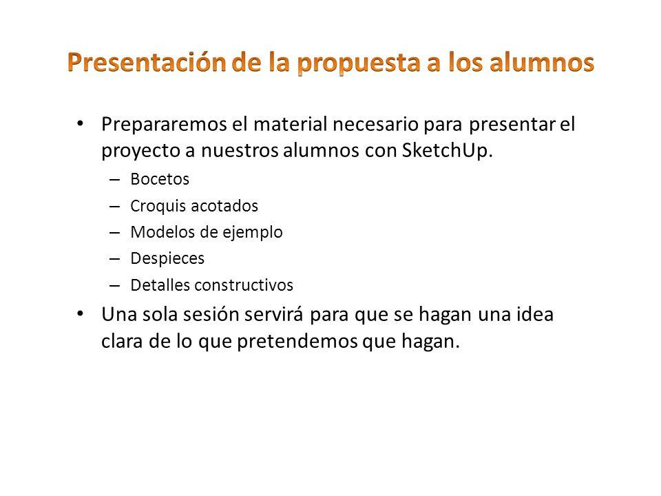 Presentación de la propuesta a los alumnos