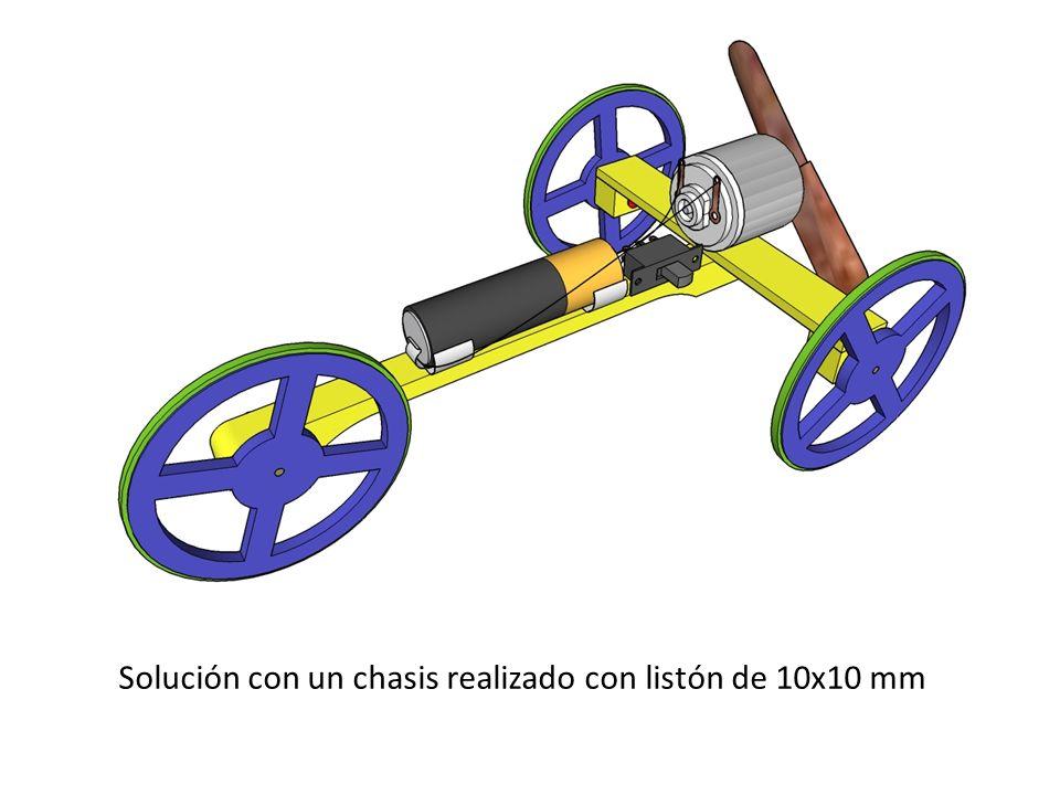 Solución con un chasis realizado con listón de 10x10 mm